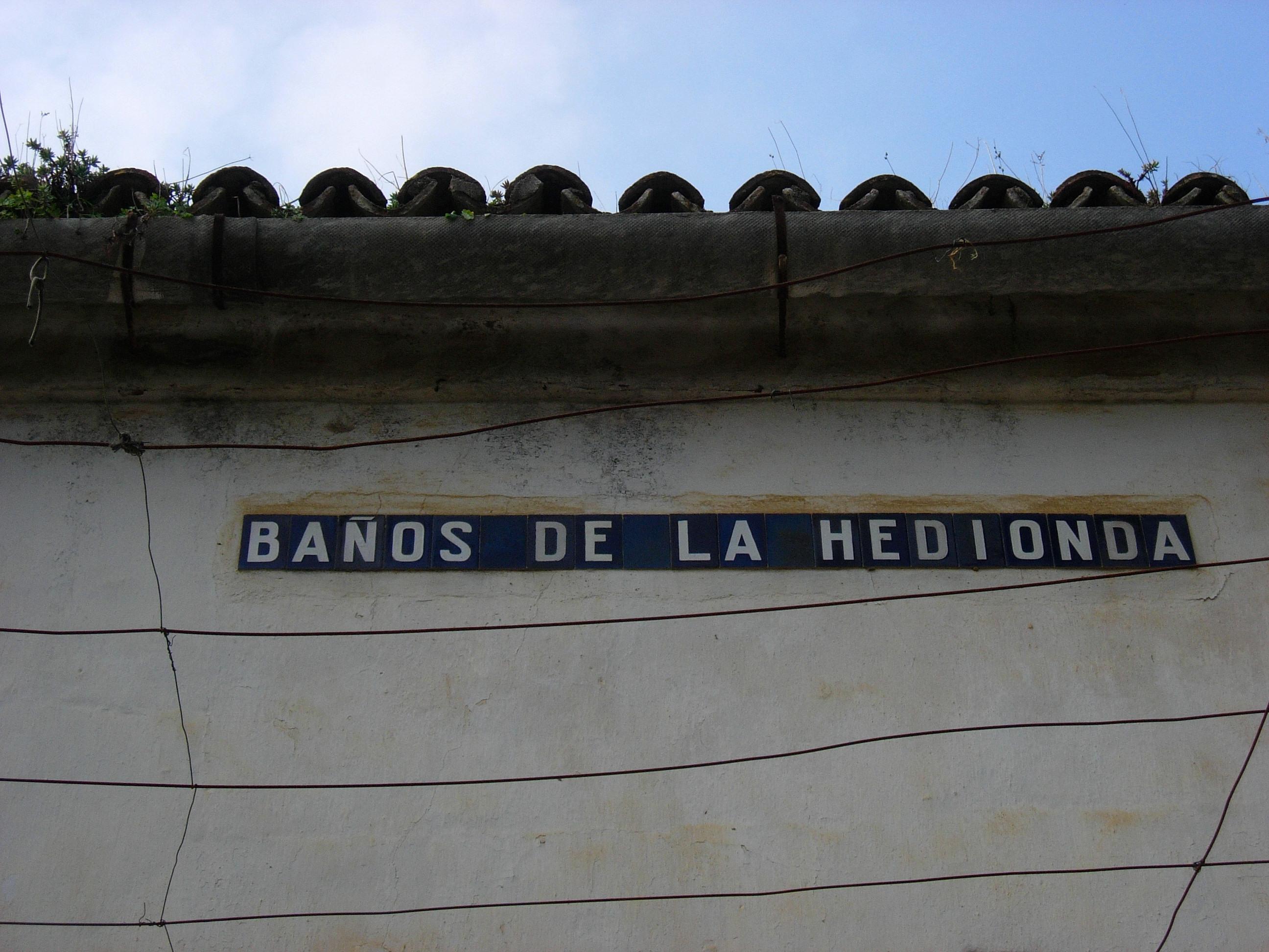 Los Baños Romano La Hedionda:in spanish the area is known as los baños romanos de la hedionda