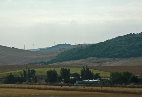 View from the house of the surrounding landscape, rapidly drying out